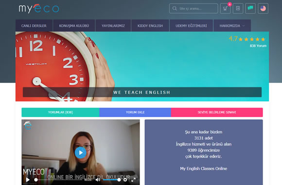Online Live English Lessons with dynamic teachers and our own publications